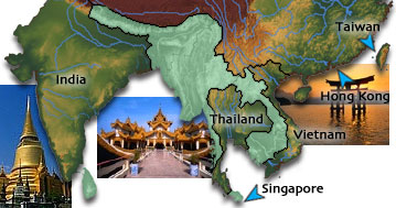 Southeast Asia image map